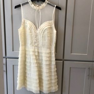 Free people ruffles and sheer cocktail dress